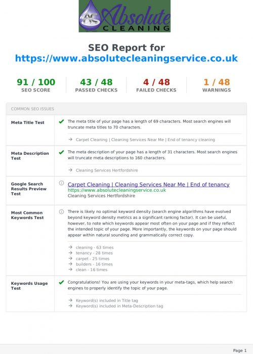 SEO-report-for-wwwabsolutecleaningservicecouk
